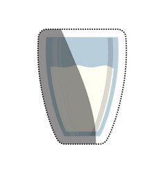 milk glass isolated vector image vector image