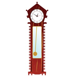 old clock in brown color vector image vector image