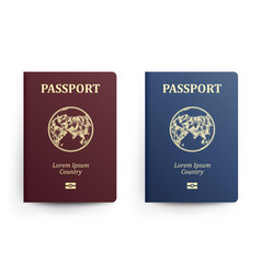 passport with map asia realistic vector image vector image