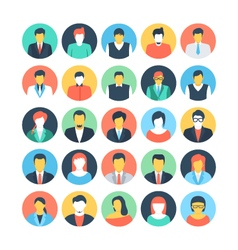People avatars colored icons 1 vector