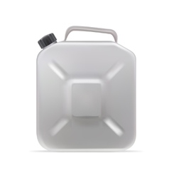 Realistic clear blank jerrycan canister gallon oil vector