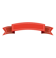 red long ribbon decorative icon vector image vector image