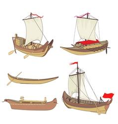 ship set vector image