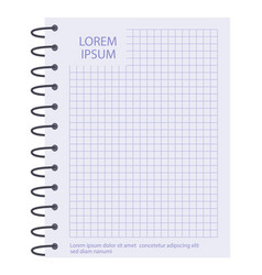 Square spiral diary sheet element vector