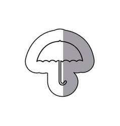 sticker sketch silhouette umbrella icon weather vector image vector image