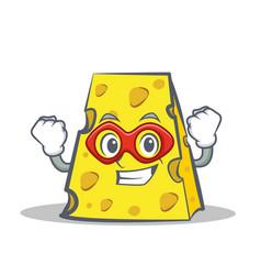 Super hero cheese character cartoon style vector