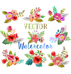 Watercolor buttonholes vector