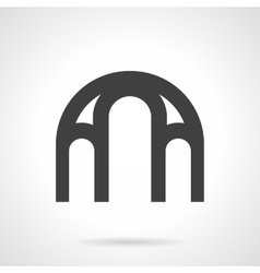 Window arch glyph style icon vector