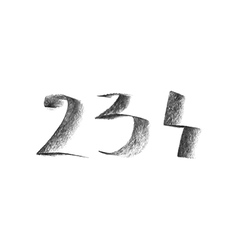 with hand drawn chalk numbers vector image vector image