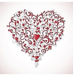 Heart-shaped ornament vector image