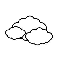 cloud travel weather line vector image