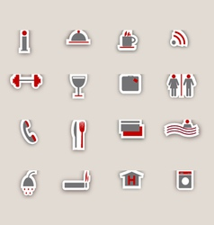 Hotel icons colage vector