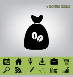 Coffee bag icon coffee bag  coffee bag vector