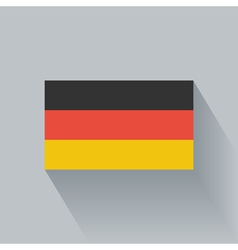 Flat flag of germany vector