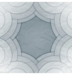 Abstract white and grey round shapes background vector