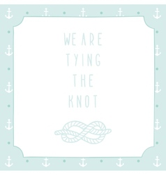 Anchor wedding invitation template vector