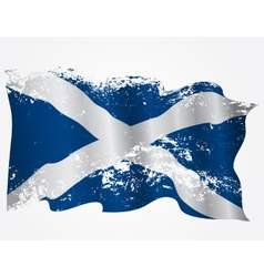 Scotland or scottish grunge flag vector