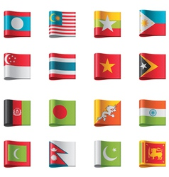 Flags - asia vector