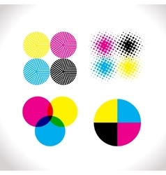 Set of cmyk vector