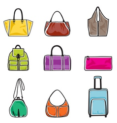 Bags icon set vector