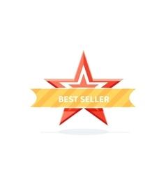 Best Seller Badge Icon Design Flat vector image vector image