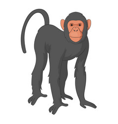 bonobo monkey icon cartoon style vector image
