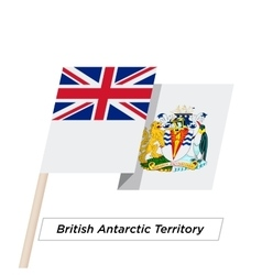 British antarctic territory ribbon waving flag vector