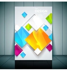 Business flayer template for vector