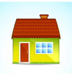 cartoon cottage vector image vector image