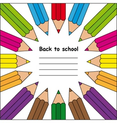Colored Crayons vector image