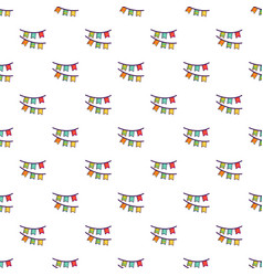 Colorful party flags pattern vector