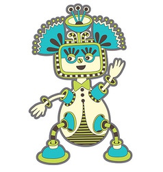 cute ornate doodle fantasy monster personage vector image vector image