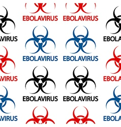 Ebola danger signs seamless pattern vector