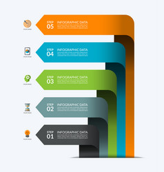 infographic banner with 5 arrows vector image