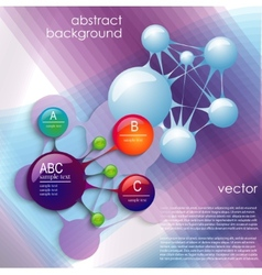 infographics on abstract background vector image vector image