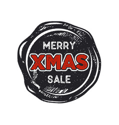 merry christmas sale lettering and typography vector image vector image