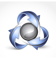 recycle around yin yang vector image