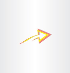 red yellow abstract arrow symbol vector image vector image