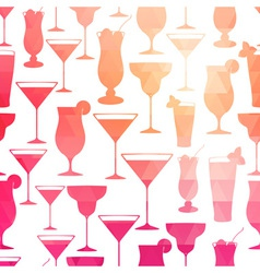 Seamless cocktail pattern vector image