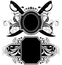 set of ornamental shields vector image vector image