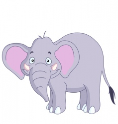 smiley elephant vector image vector image