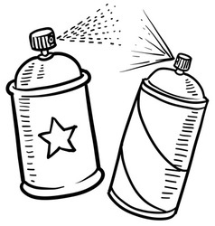 Spray paint cans vector image