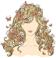 Spring woman vector image vector image