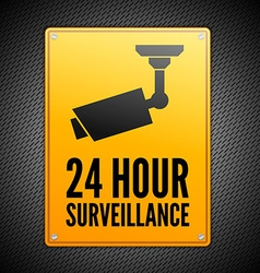 Surveillance sign vector image vector image