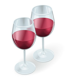 two wine glasses vector image