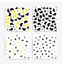 Universal doodle seamless patterns set vector