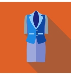 Women classic suit icon flat style vector
