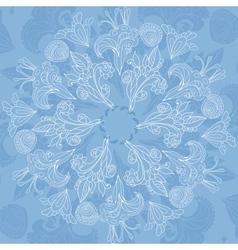Blue floral ornament background vector image
