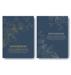 Invitation or wedding cards with vector