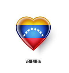 Patriotic heart symbol with venezuela flag vector